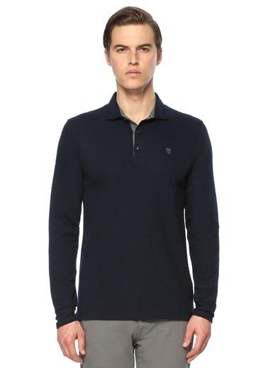 George Hogg George Hogg 7003942 Jakarlı Slim Fit Haki Sweatshirt Erkek Sweatshirt Lacivert